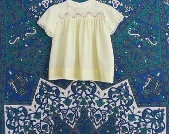 80s vintage baby girl toddler red jumper 1234 dress// 12-18 months