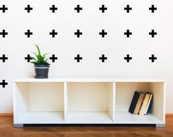 Mini Swiss Cross Plus Sign Nursery wall decal,Cross Pattern Wall Decor