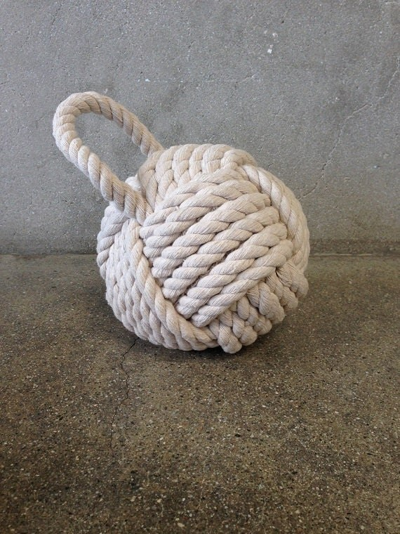 Rope knot door stop by urbanamericana on etsy - Knot door stopper ...