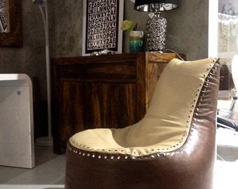 Bean bag, Bean bag chairs, bag-chair Aviator - genuine Leather Bean Bag Chair