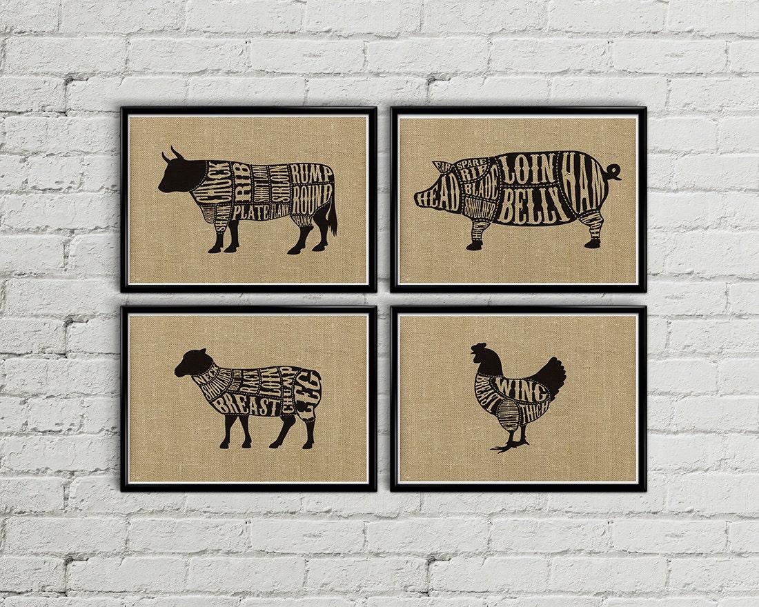 butcher chart | etsy - Poster Für Küche