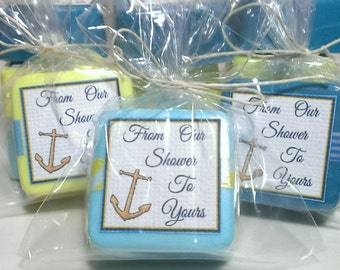 48 boy baby shower favors nautical party favors party decoration handmade soap favors