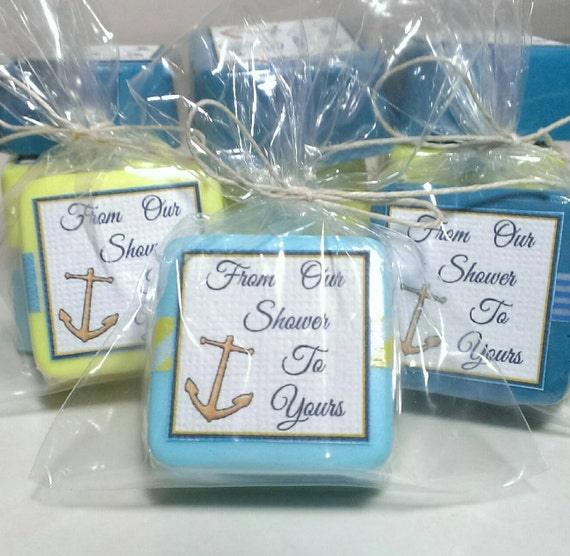 nautical baby shower favor soaps 12 party favors party decoration