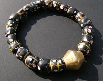 Antique Venetian glass beads bracelet
