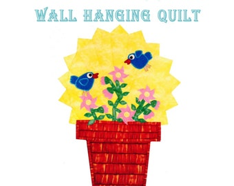 Sunny Sparrows Wall Hanging Quilt