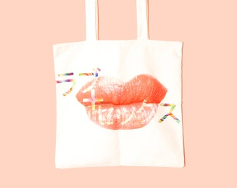Kuchibiru (Lips) - the graphic tote