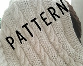 Pattern - Baby Blanket - Baby Afghan - Cable Knit - Cotton - Natural - Pattern - Pattern - Pattern