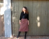 50s wool pencil skirt M Rough Rider