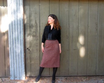 50s wool pencil skirt M Rough Rider