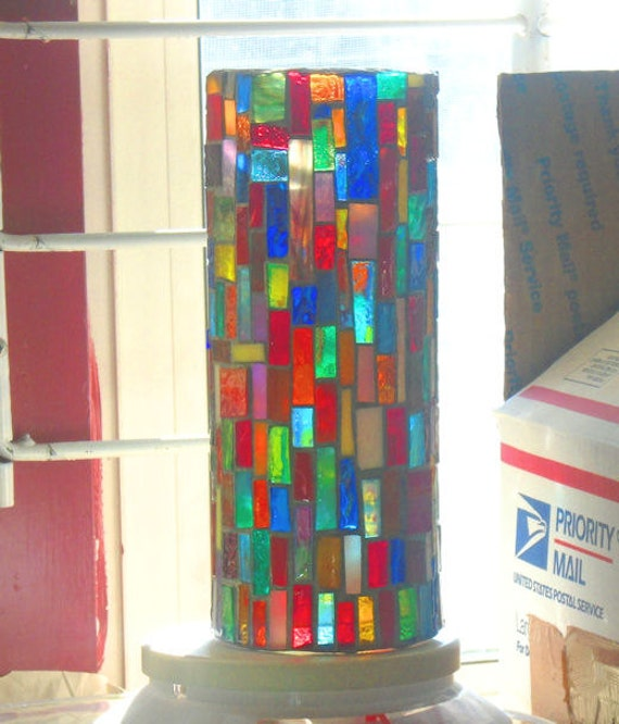 Stained Glass Coffee Table Book: Stained Glass Mosaic Table Top Shelf Decor Window Decor Coffee