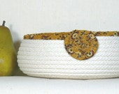 Coiled Rope Basket, Washable Food Basket, Catchall Basket, Bread Basket, Desk Organizer, Fiber Art Basket, Storage Basket