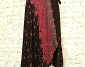 70s Judy Knapp Wrap Style Jersey Skirt - Hippie Chic