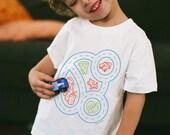 4T, Toddler Boy Race Car Shirt, Kids Stocking Stuffer, Play Mat Shirt, Car Birthday, Race Car Party, Interactive Clothing, Toddler Shirt
