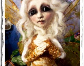Fairy Art Doll - Gothic Art Doll -OOAK Art Doll - Creepy Cute - Woodland Fairy