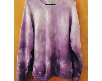 Purple Ombre TieDye Sweatshirt