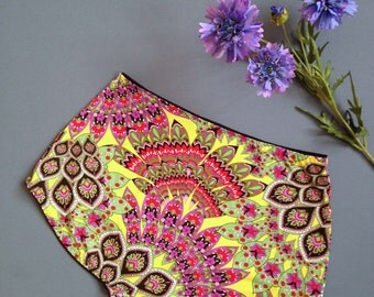 Handmade Underwear - Ladies Panties - Circus Parade - Bright Colours - 70s - Boho Women - Knickers - Lingerie