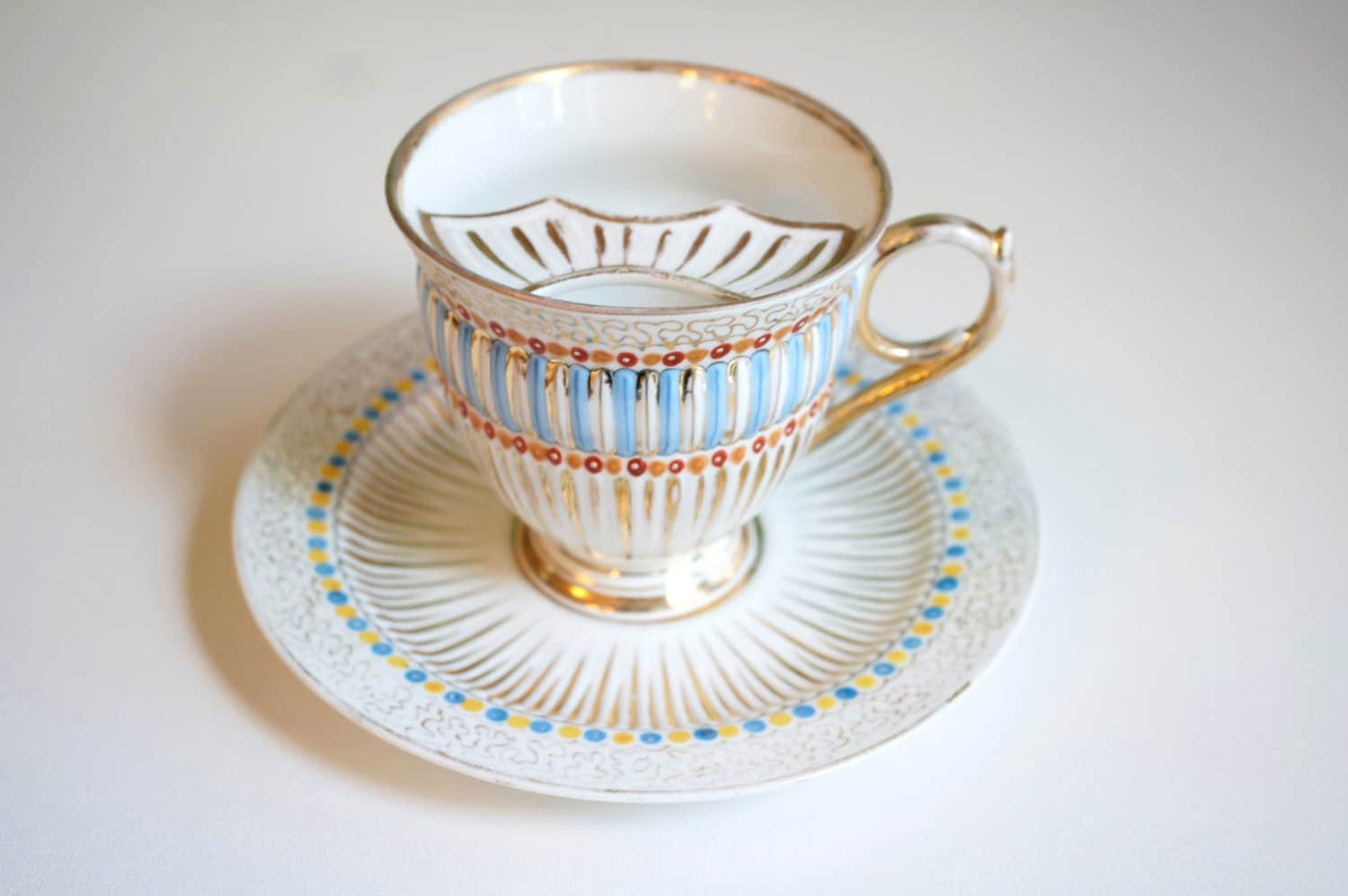 Gentleman S Teacup Handpainted Vintage Mustache Teacup