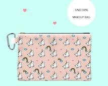 Unicorn bag,kawaii,unicorn,makeup bag,pouch,gift,purse,cosmetic bag,cute,bag,magic,pink bag,rainbow,cute gift,girly,lolita,unicorn case,gay