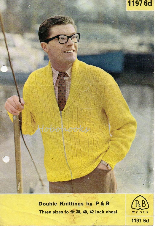 Mens knitting pattern 1950s mens zipper cardigan zipper jacket mens knitting pattern 1950s mens zipper cardigan zipper jacket shawl collar mens cardigan cable 38 42 inch dk cardigan knitting pattern pdf bankloansurffo Choice Image