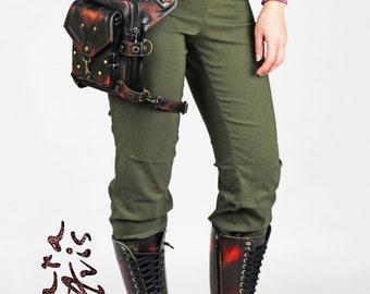 Leather hip bag Black Blood