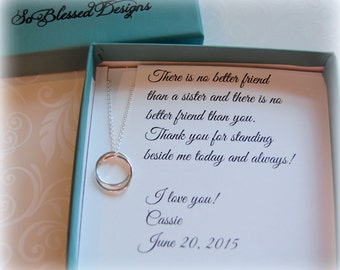 SISTER wedding gift, Sister Maid of Honor gift, Matron of Honor, Personalized Sister POEM, Sister as your maid of honor