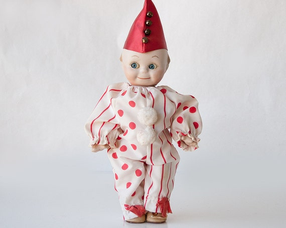 vintage clown kewpie doll