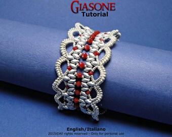 Tutorial Giasone Bracelet - beading pattern