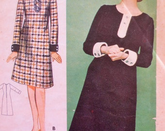 Vintage Butterick 3288 Sewing Pattern, 1960s Dress Pattern, Mary Quant Dress, Bust 32, Young Designers, 1960s Sewing Pattern, Vintage Sewing