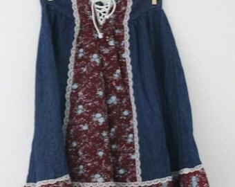 Girls Gunne Sax Prairie Skirt c1970s PRICE REDUCED