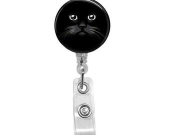 "Black Cat ID Badge Reel Swivel Spring Clip 32"" Retractable Reel"