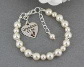 Grandma to be Charm Bracelet Gift for Grandma Pearl Bracelet Grandmother Bracelet Grandma Bracelet Suprise Gift for Grandma to be