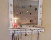 You Can Pick Your Color, Jewelry Organizer, Jewelry Display, Wall Organizer, Necklace Holder, Earring Organizer