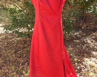 Red New Image Evening Gown, Floor Length Backless Prom Dress, Size 10, Red Bridesmaids Dress
