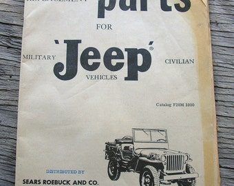 Vintage Jeep Parts Manual Printed 1961, Replace Parts for Jeep Military and Civilian Vehicles, Catalog F28M 1000 #11