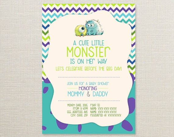 monsters inc baby shower invitations monsters inc diaper raffle baby