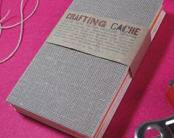 """Mixed Media Sketchbook! Crafting Cache Original! Handmade! Reclaimed & Recycled Materials! Pocket Sized 3"""" x 5""""!"""