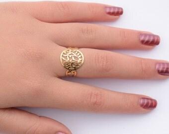 shema israel  ring 14k goldfilld shema ring gold ring gold shema ring