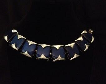 Coro Marked Dark Blue Bracelet