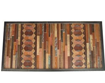 "Large Reclaimed Wood Wall Art - Rustic Viper  24"" x 48"""