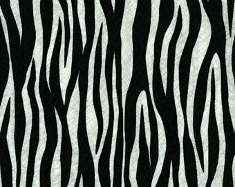 Quilting Treasures Black Amboseli Zebra cotton fabric