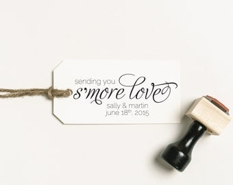 Sending You S'more Love Stamp, S'more Favors Stamp, Wedding Favour Stamp, Personalized Stamp, Favour Rubber Stamp, S'more Stamp (03.003)