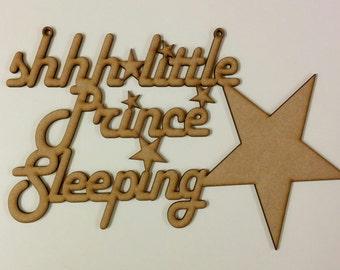 Shhh Little prince sleeping hanger
