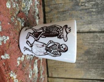 Skeleton Couple Dancing Shot Glass