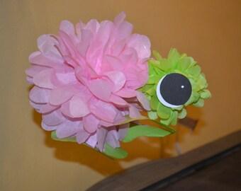 Under the Sea Tissue Paper Pom Turtle/Turtle/Under the Sea/Baby Shower Decoration/Pink Turtle/Pink Tissue Paper Pom Turtle