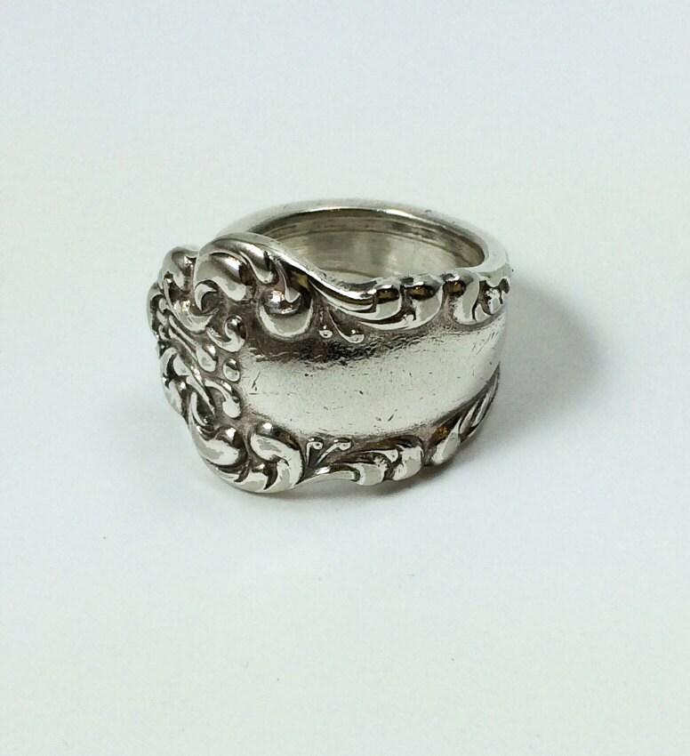 vintage spoon ring silverware jewelry
