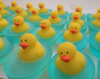 Duck Soap Favor, Rubber Duck Favor, Baby Shower Favor, 1st Birthday Party Favor (Sets of 10, 15, 20), Party Supplies