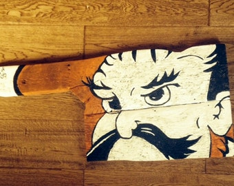 Oklahoma State Pistol Pete Barnwood Sign