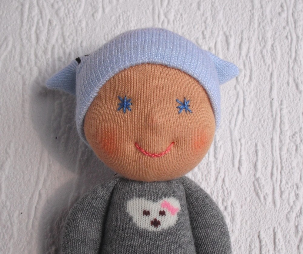 Waldorf baby doll Handmade sock doll Pocket doll Present