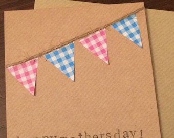 Happy Mother's Day handmade bunting card