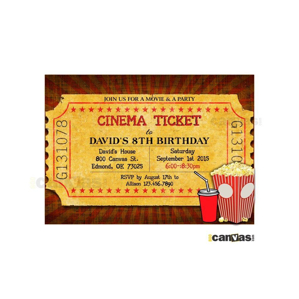 movie ticket invitations - Military.bralicious.co